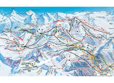 mapa střediska Ischgl